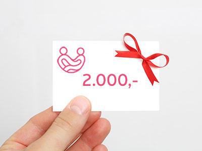 Gavekort på 2.000 kr